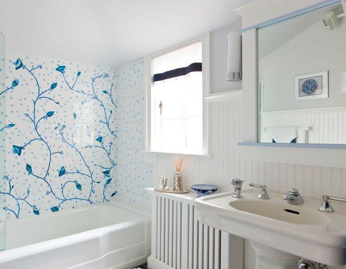 Другие варианты дизайна панно в ванной 10
