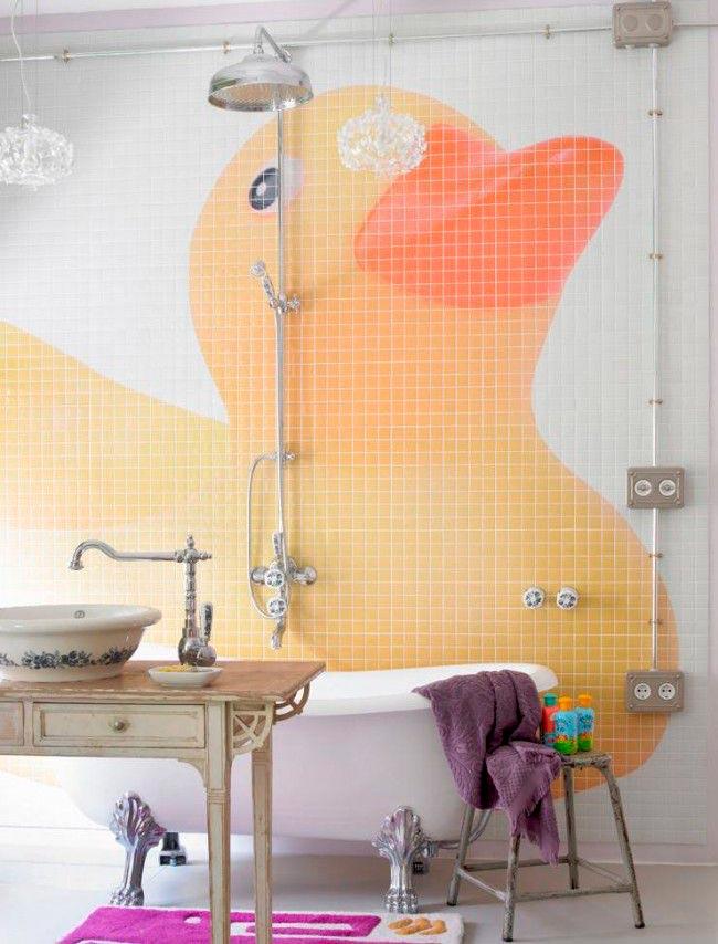 Другие варианты дизайна панно в ванной 11