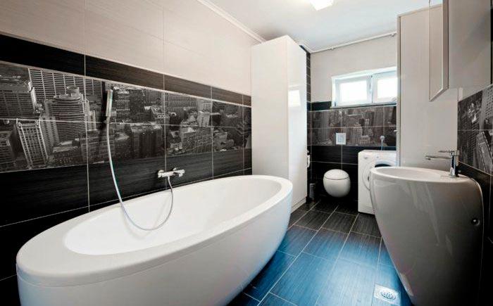 Другие варианты дизайна панно в ванной 15