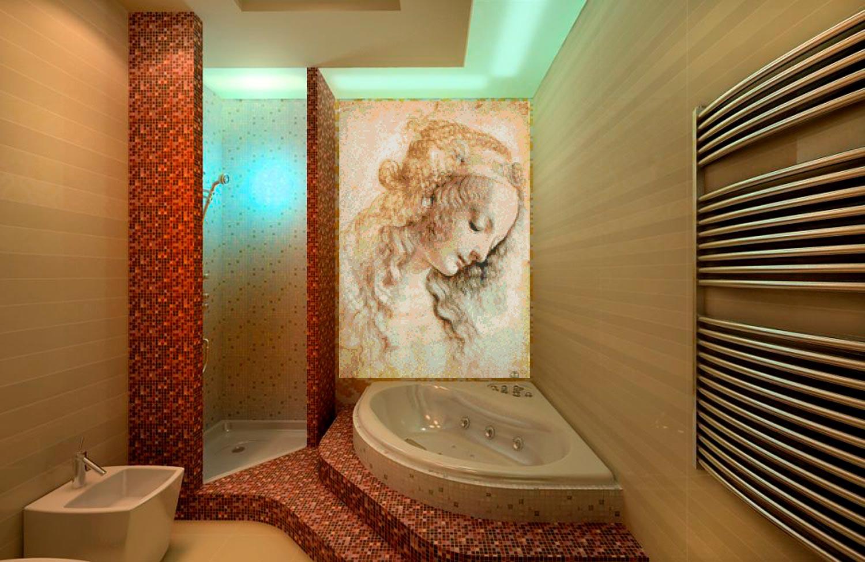 Другие варианты дизайна панно в ванной 19