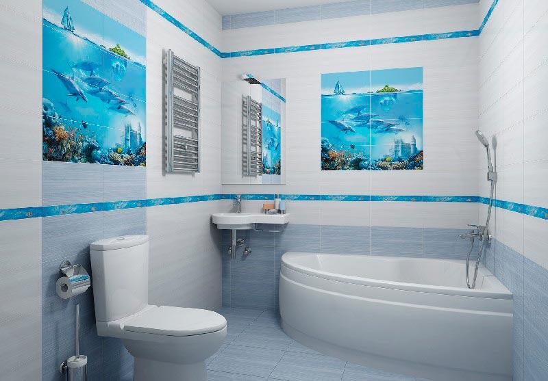 Другие варианты дизайна панно в ванной 20