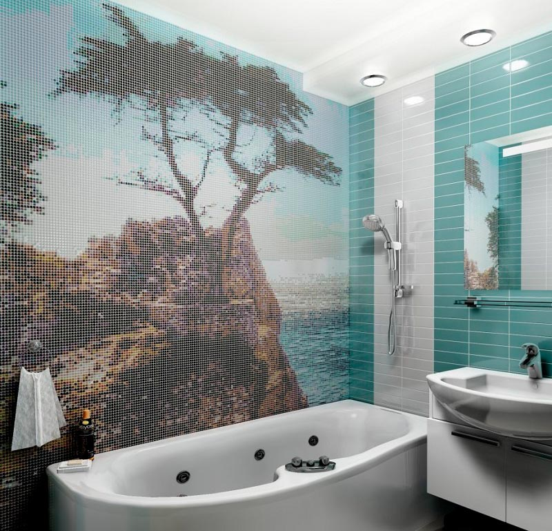 Другие варианты дизайна панно в ванной 21