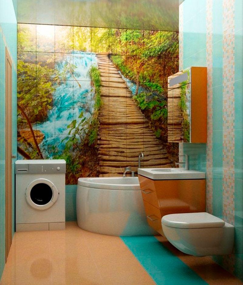 Другие варианты дизайна панно в ванной 29