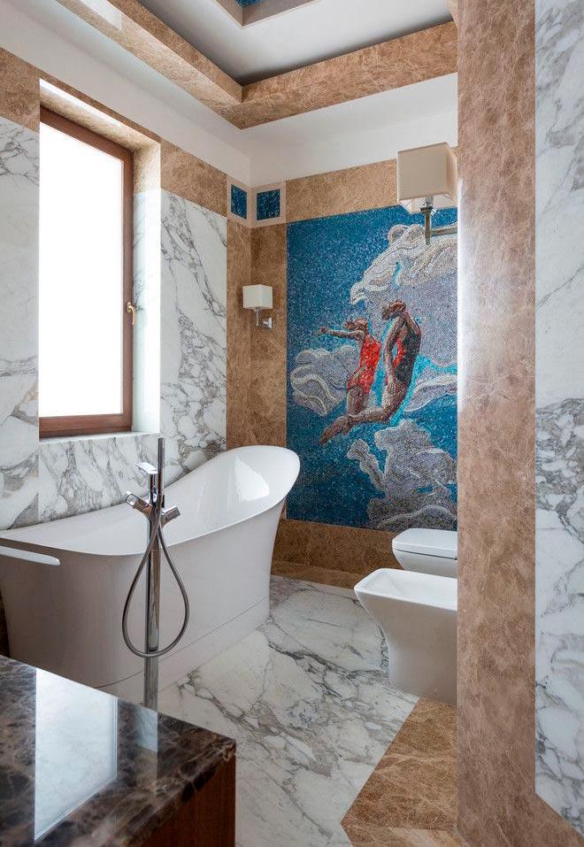 Другие варианты дизайна панно в ванной 3