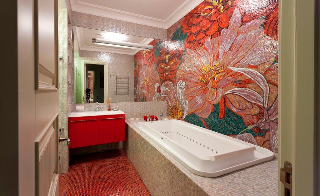 Другие варианты дизайна панно в ванной 42