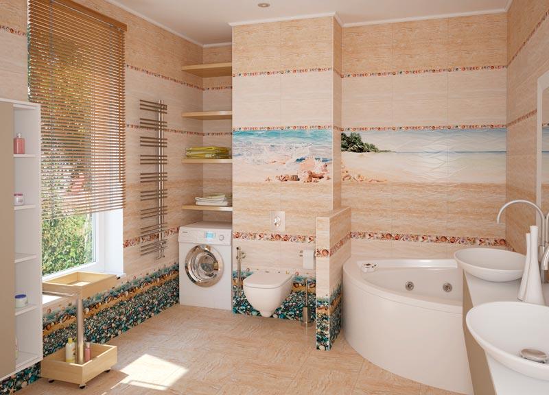 Другие варианты дизайна панно в ванной 44