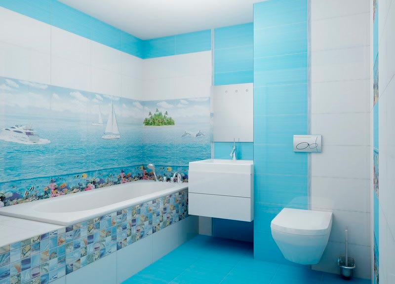 Другие варианты дизайна панно в ванной 47