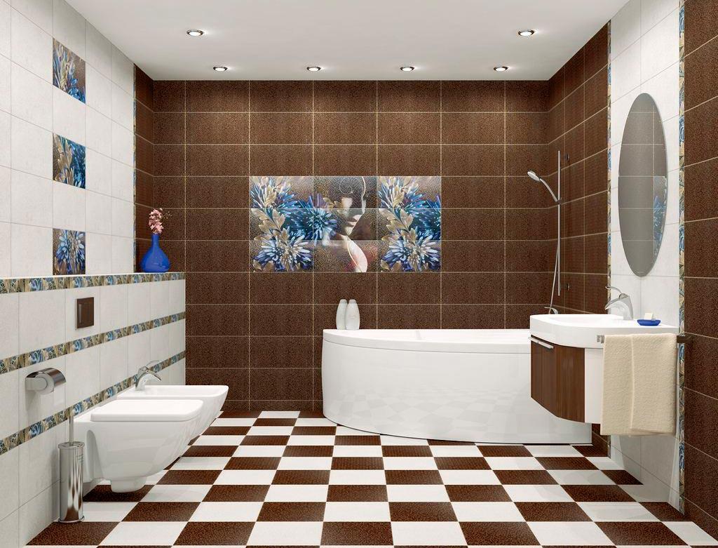 Другие варианты дизайна панно в ванной 48
