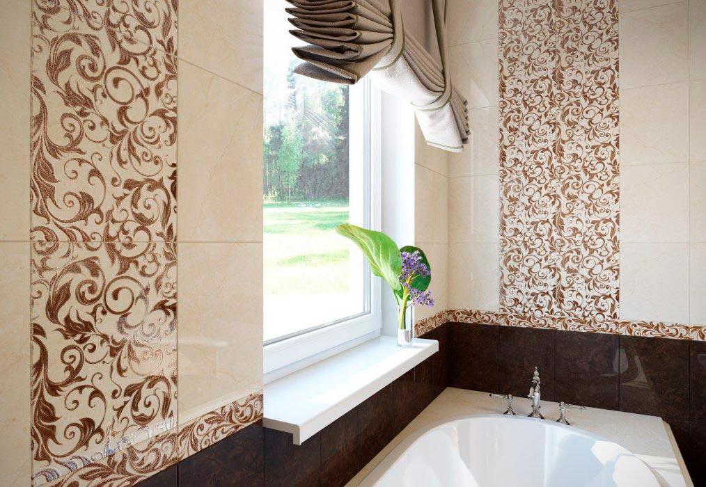 Другие варианты дизайна панно в ванной 54