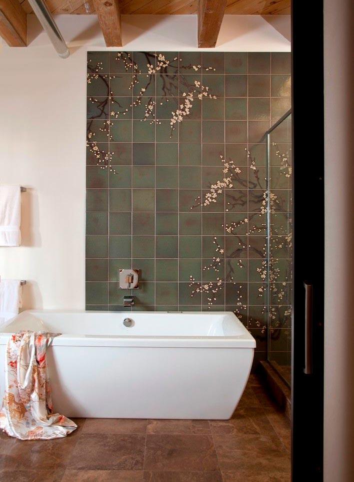 Другие варианты дизайна панно в ванной 6