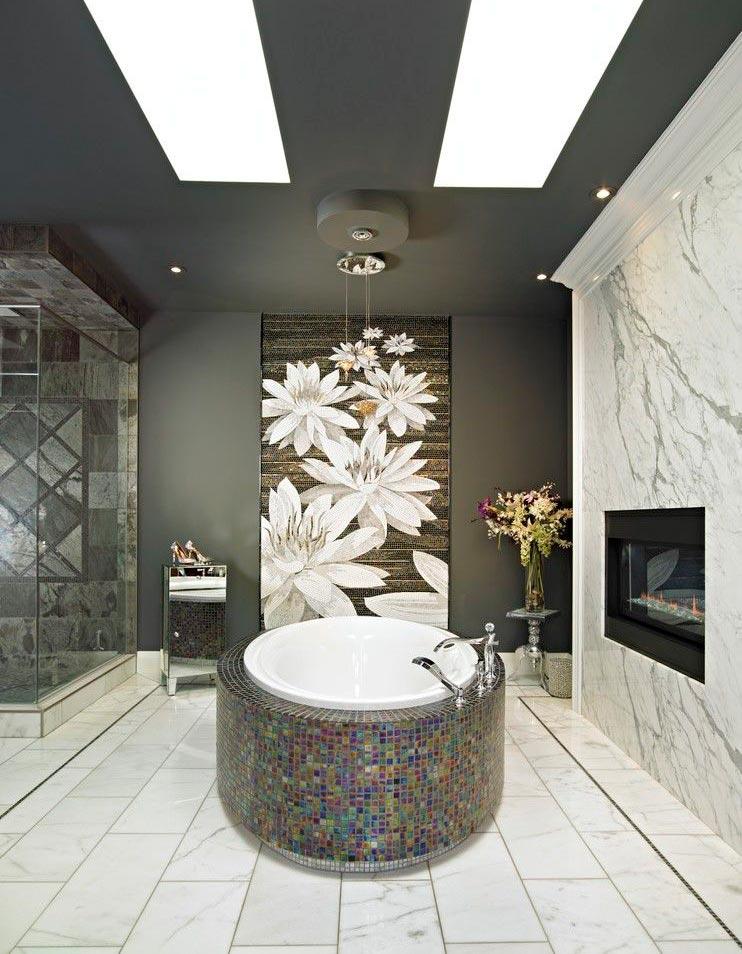 Другие варианты дизайна панно в ванной 7