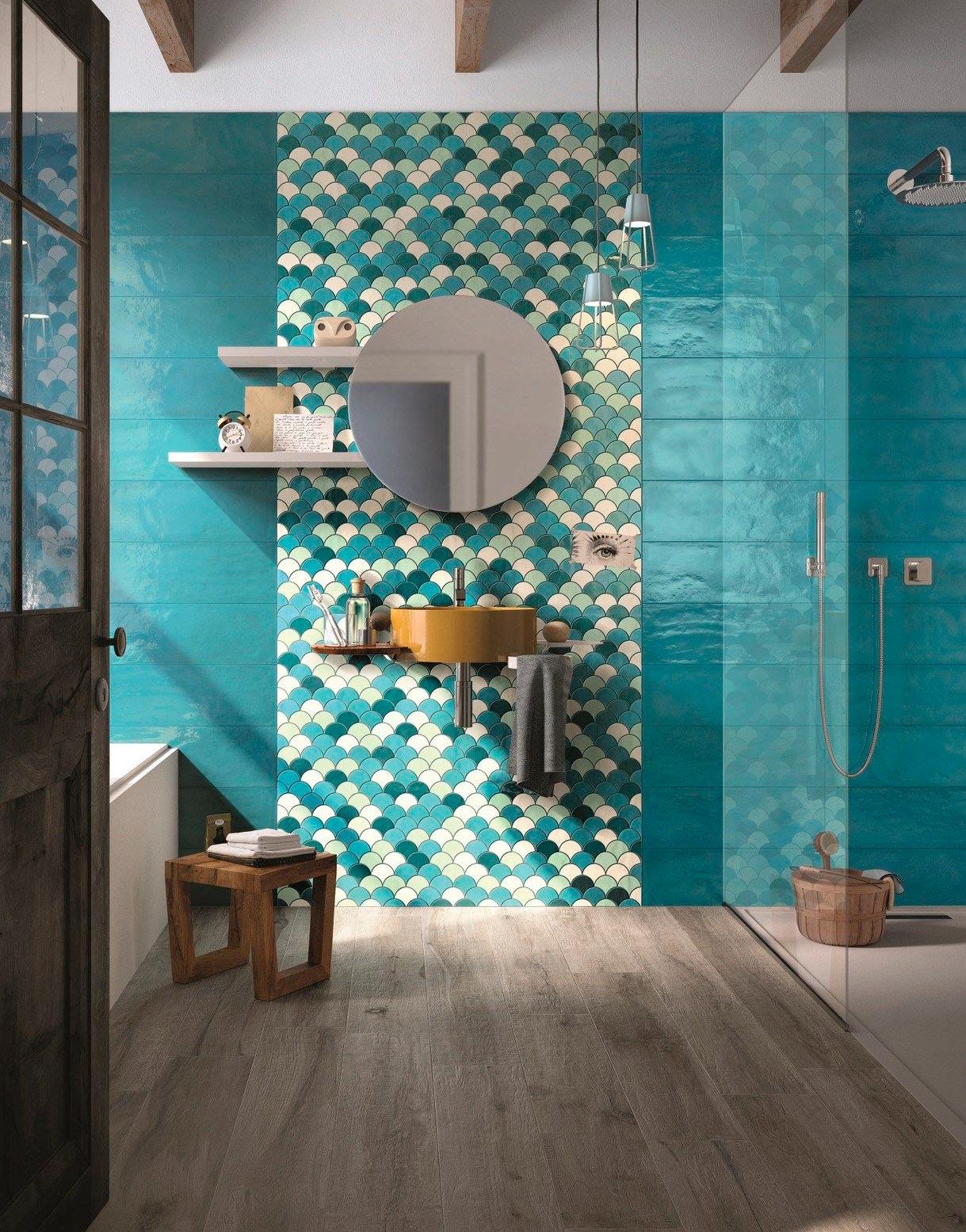 Другие варианты дизайна панно в ванной