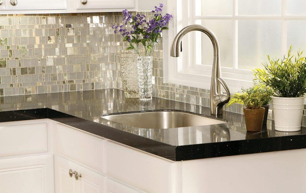 фигурная зеркальная плитка мозаика для кухни