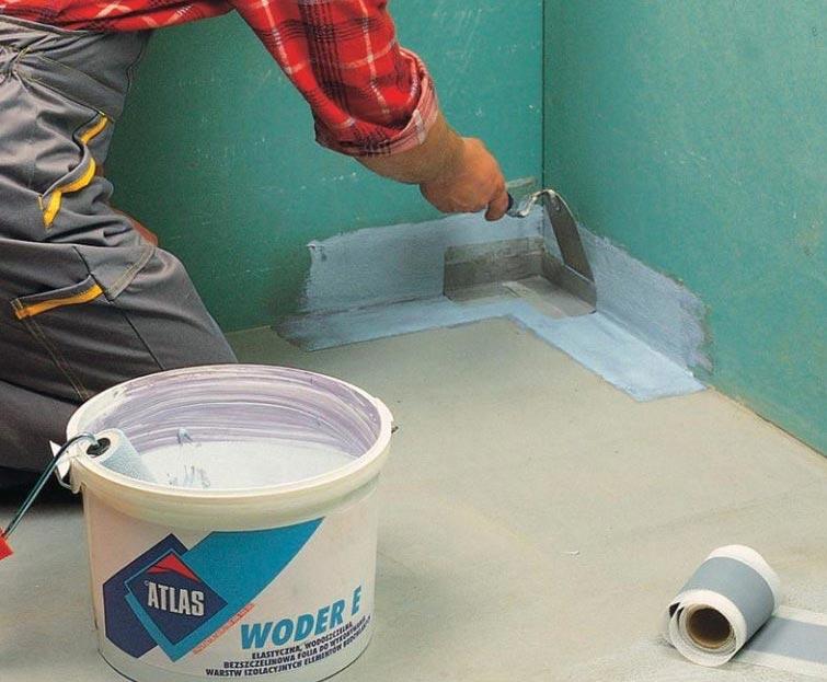 гидроизоляция ванной под плитку-методы