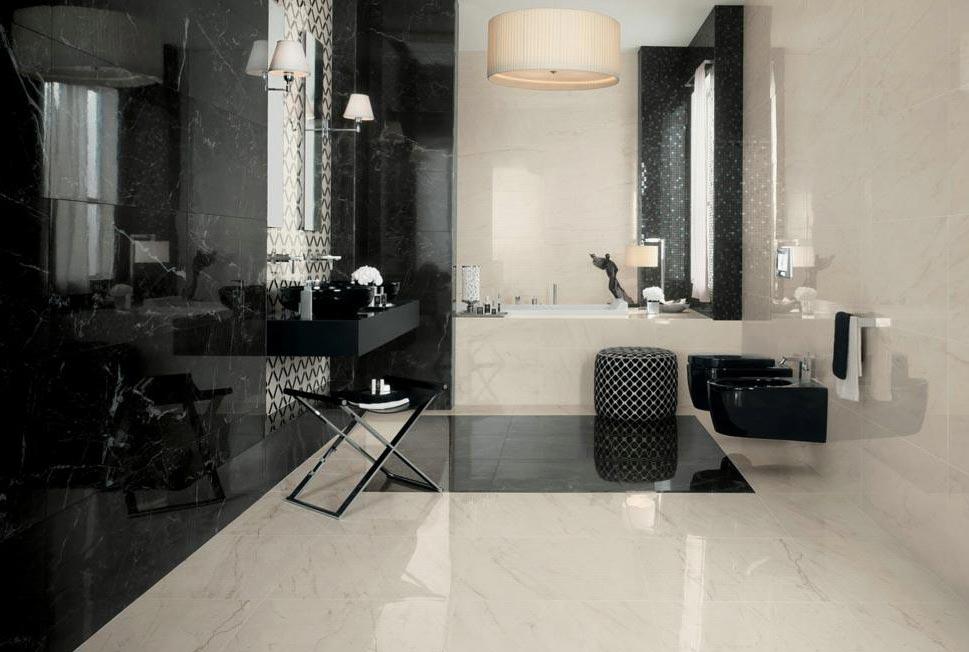 глянцевая плитка для ванной-плюсы