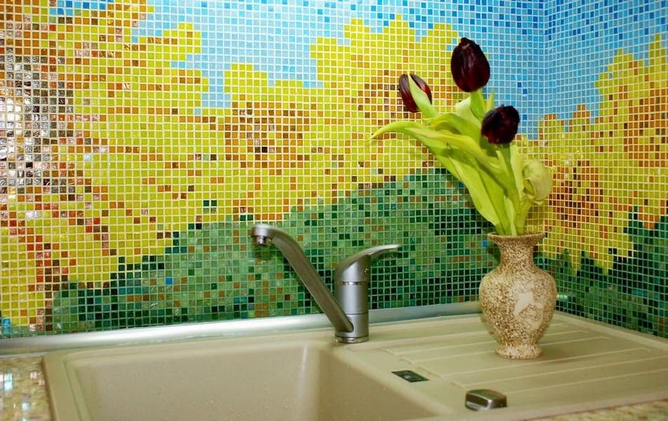 художественные мозаичные панно для кухонь