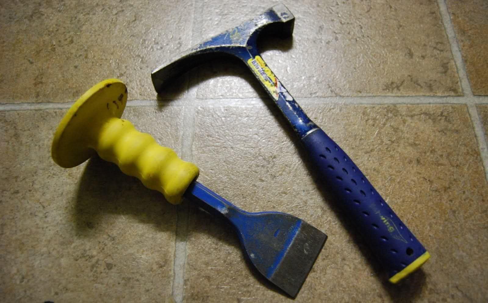 инструменты для демонтажа плитки