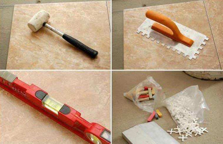 как монтировать отошедшую плитку в ванной-необходимые инструменты