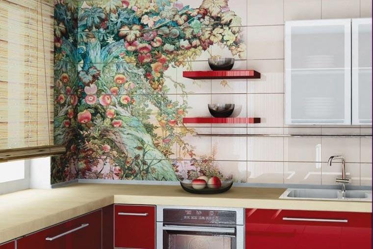 как обновить плитку на кухне-дизайн