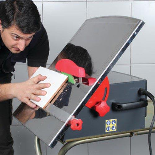 как резать электрическим плиткорезом под углом-рекомендации