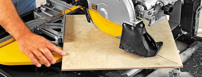 Как резать плитку плиткорезом с водяным охлаждением