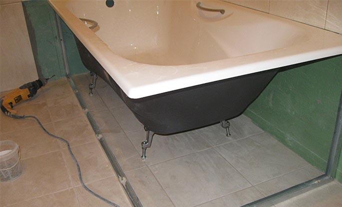 как установить ванную под плитку-полезные советы