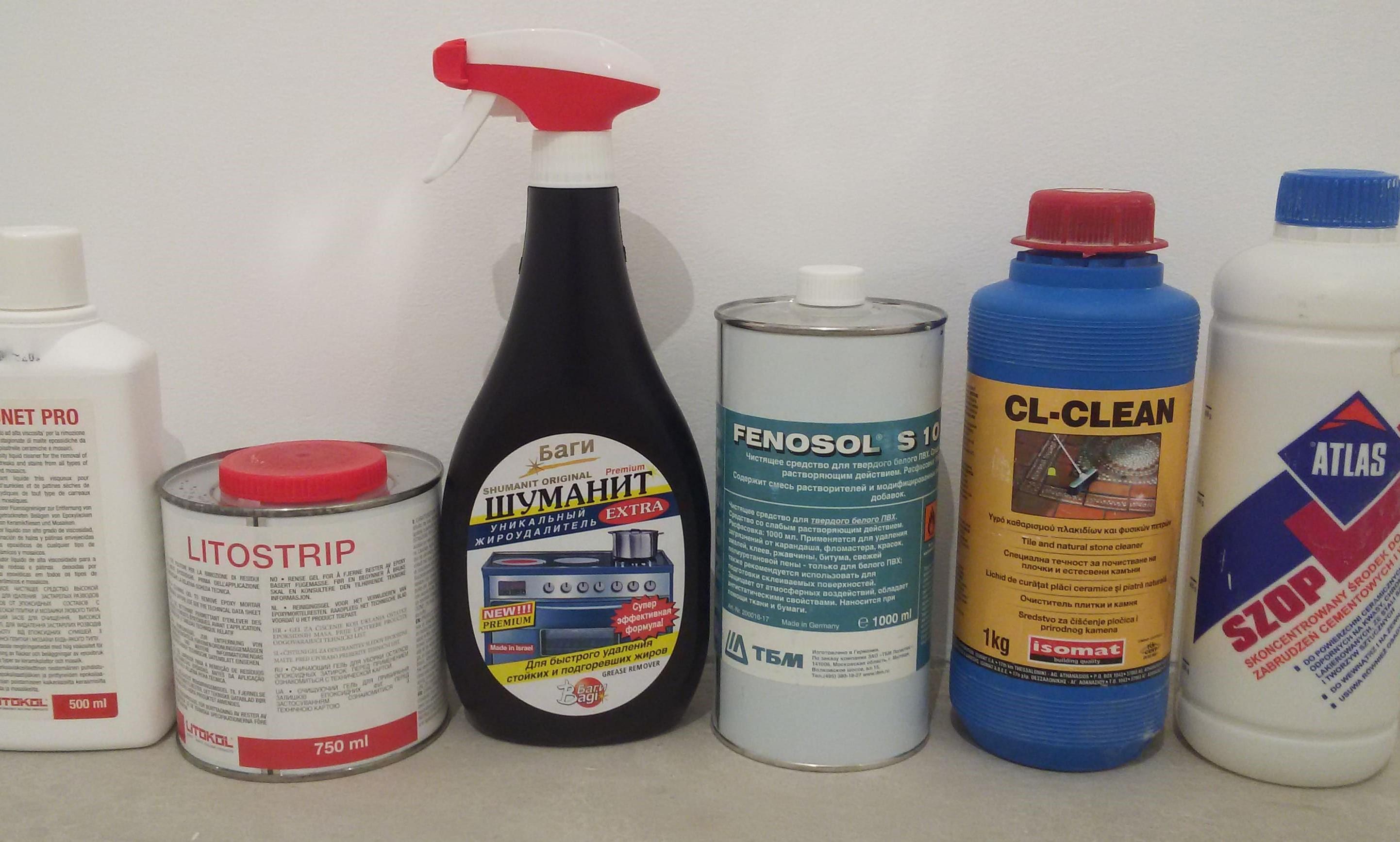 кислотные смывки для затирки плитки