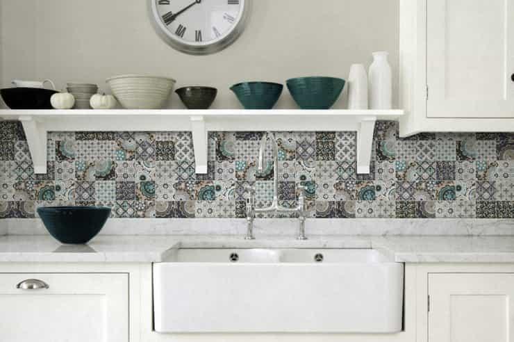 Современная плитка пэчворк для кухни