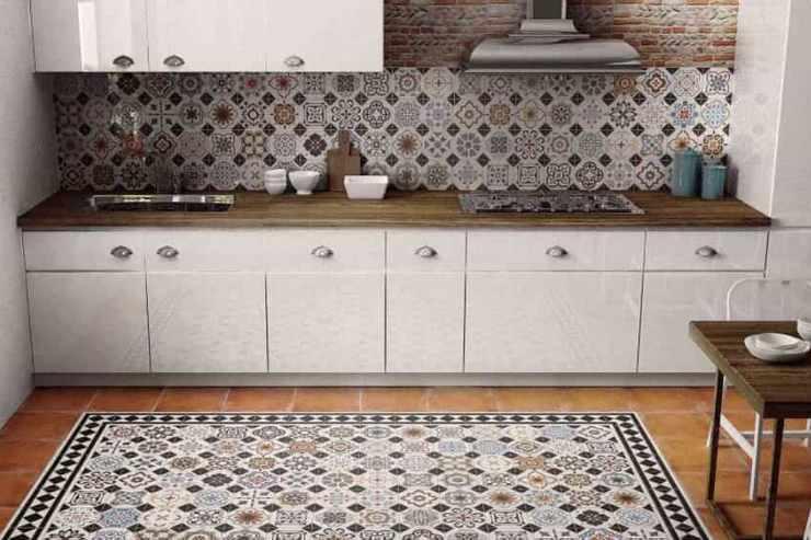 Плитка в марокканском стиле на кухне