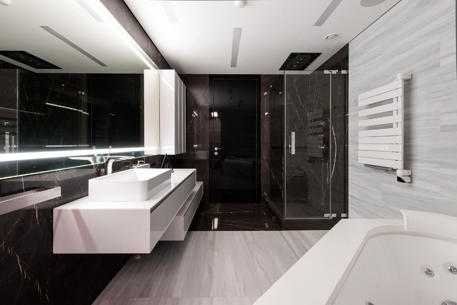 минимализм в интерьере ванной плитка