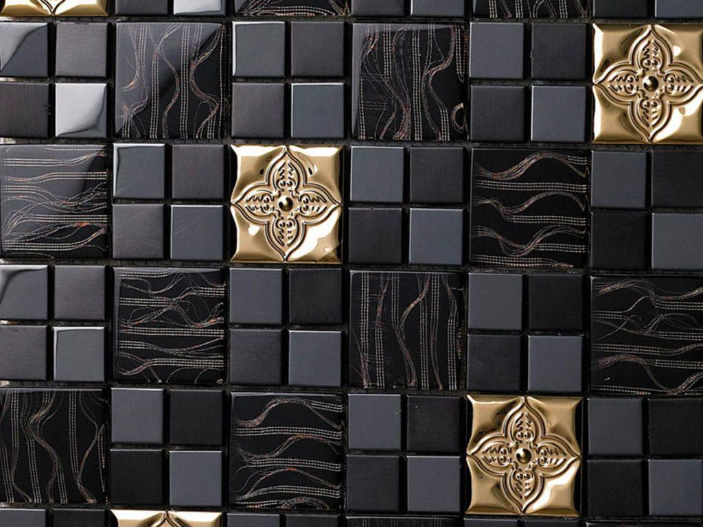 мозаика для кухни из драгоценных металлов