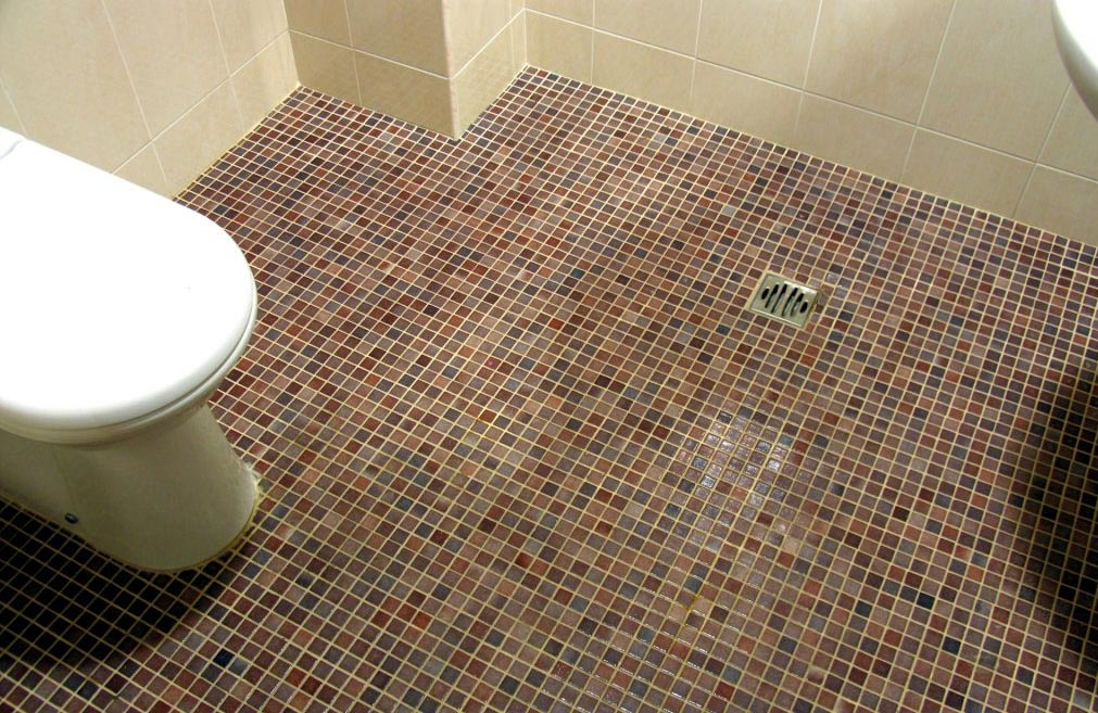 напольная плитка для туалета-мозаика