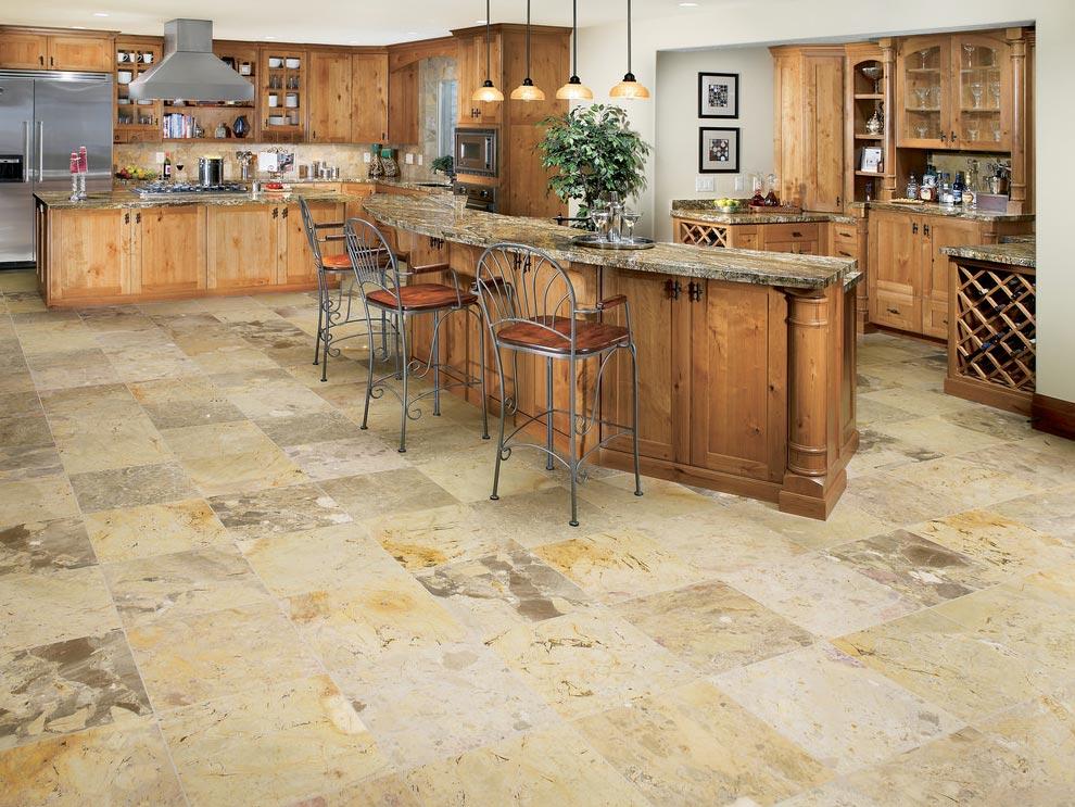 напольная плитка под камень для кухни