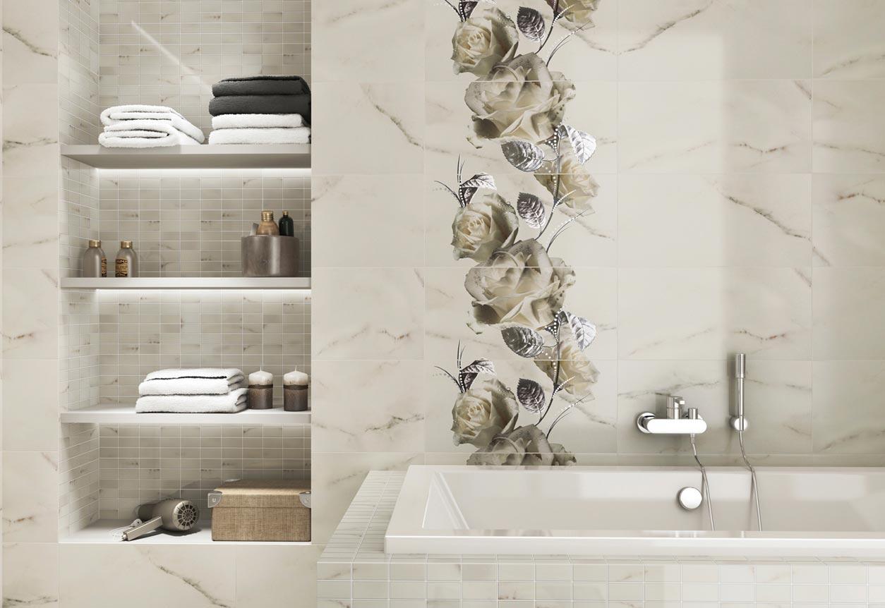 Настенной панно из плиток для ванной
