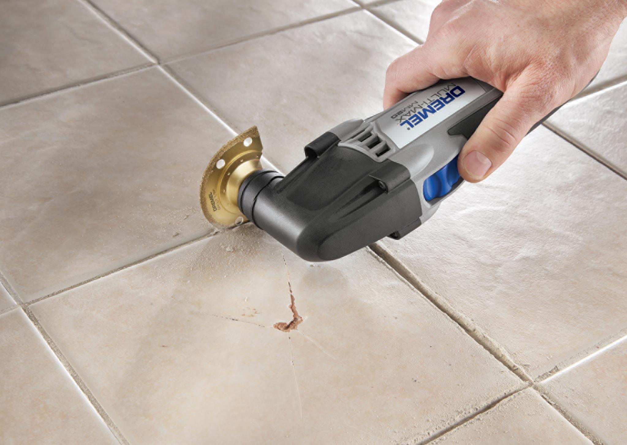 очистить швы между плиткой на полу от затирки