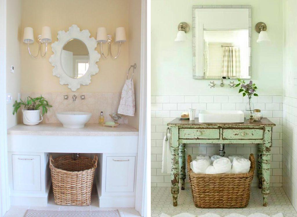 Оформление ванной комнаты в стиле шебби шик 4