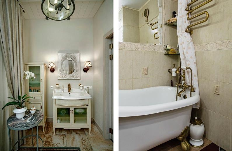 Оформление ванной комнаты в стиле шебби шик