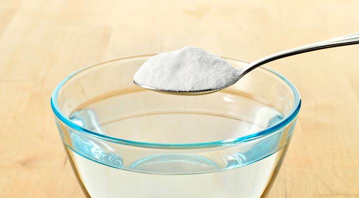 отмыть плитку на кухне содой и водой