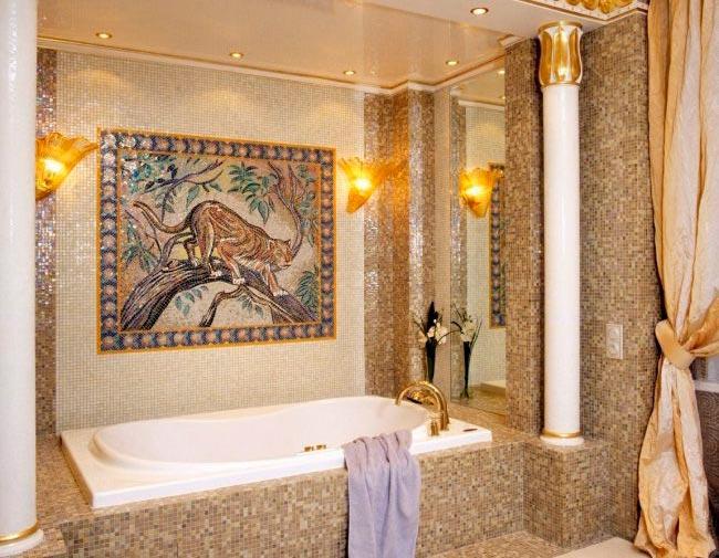Панно для большой ванной