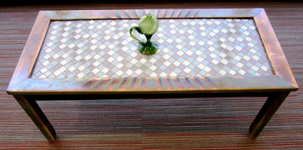 плитка мозаика для горизонтальной поверхности на кухне