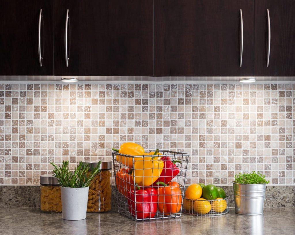 плитка мозаика на кухню микс