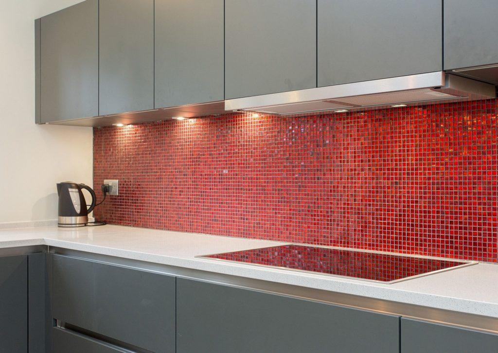 плитка мозаика на кухню моноколор