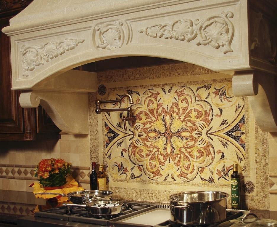 плитка мозаика на кухню панно