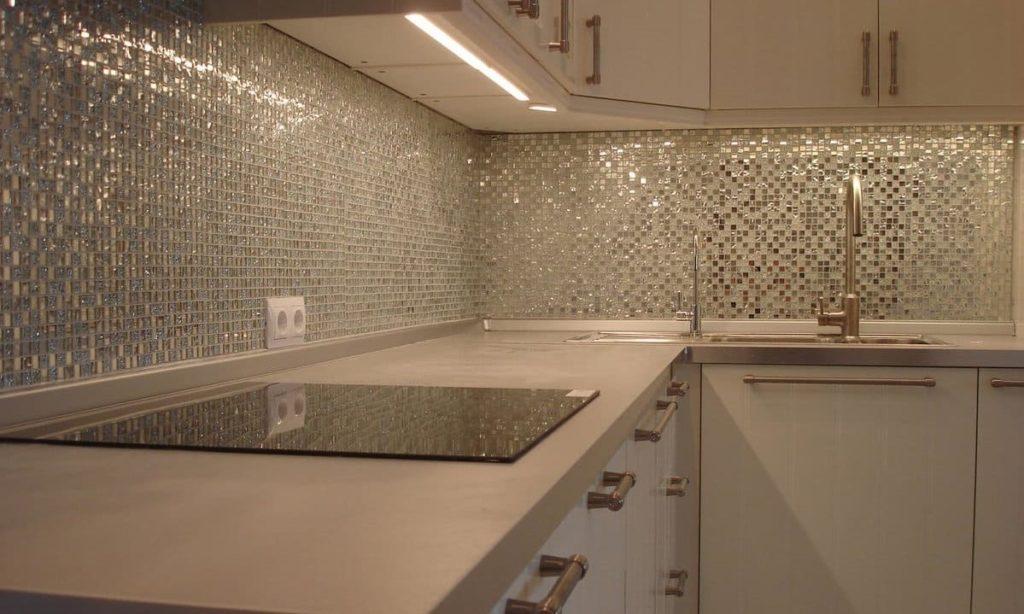 плитка мозаика на кухню растяжка