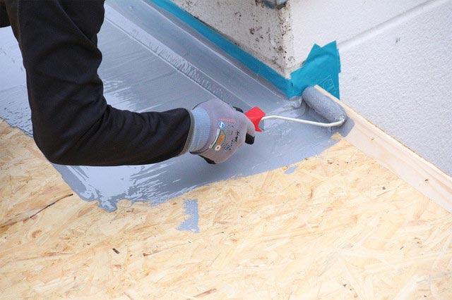 плитка на деревянный пол в ванной-гидроизоляция