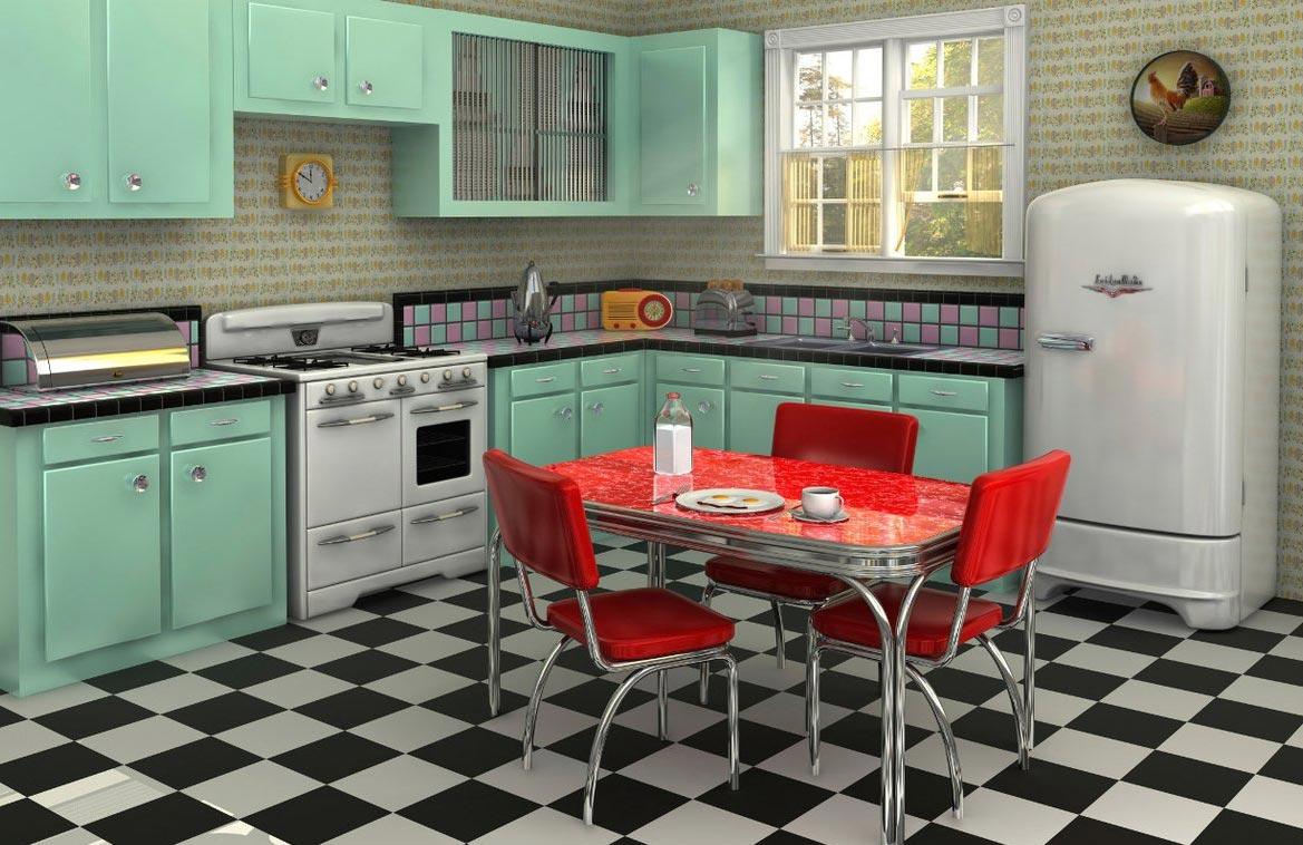 плитка на пол для кухни шахматная доска