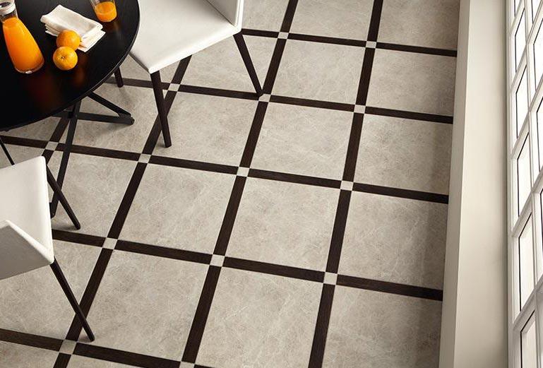 плитка на пол для кухни шов в шов