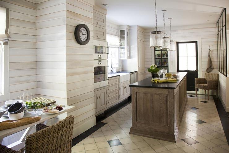 Плитка прованс имитация доски на кухне