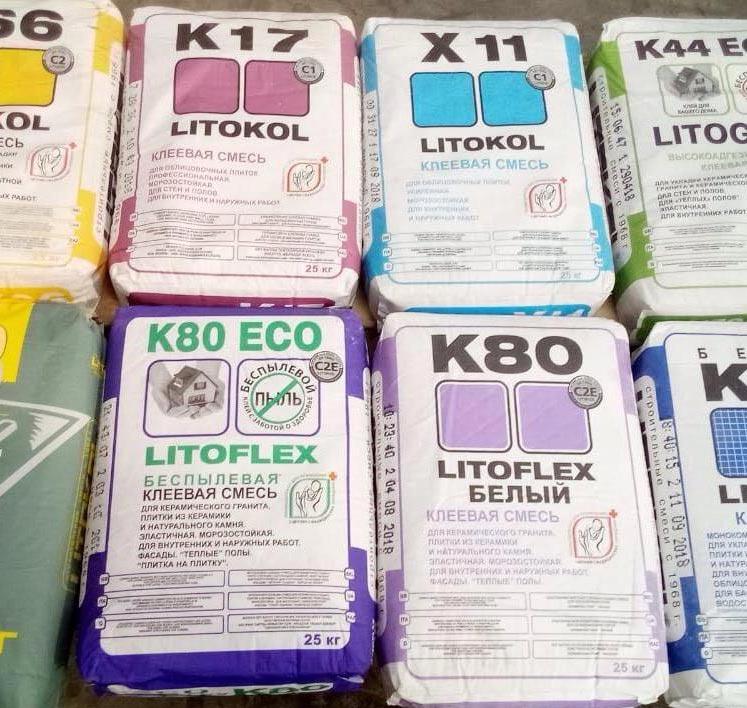 плиточный клей литокол-рекомендации по выбору