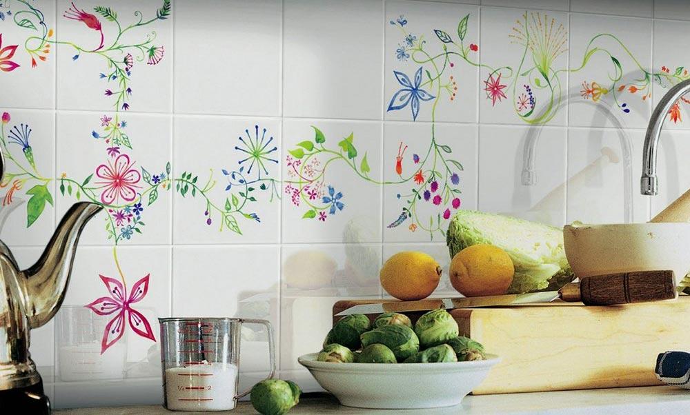покраска плитки на кухне-готовые решения